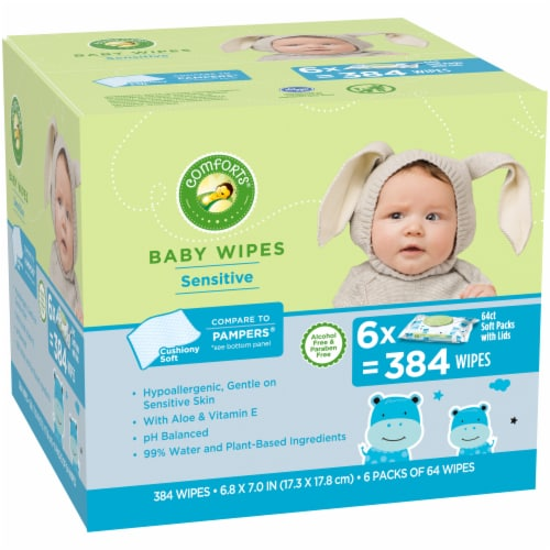Comforts™ Sensitive Baby Wipes Perspective: left