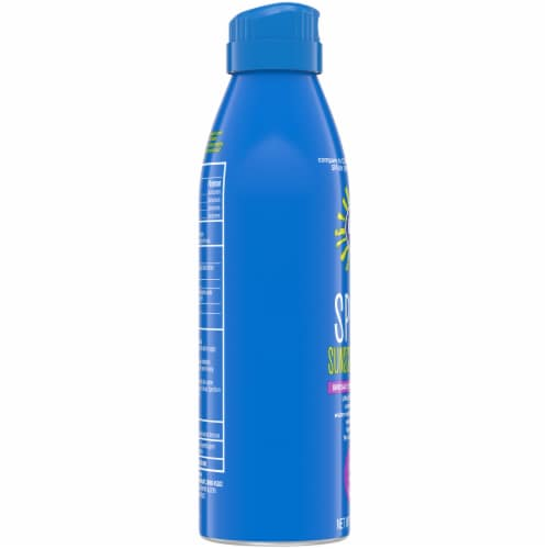 Kroger® Broad Spectrum Sport Sunscreen Spray Aerosol Can SPF 30 Perspective: left