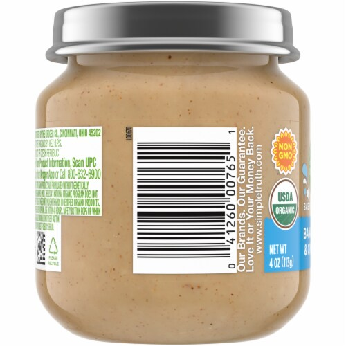 Simple Truth Organic® Banana Oat & Cinnamon Stage 2 Baby Food Perspective: left