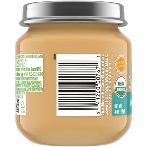 Simple Truth Organic® Banana Baby Food Puree Jar Perspective: left