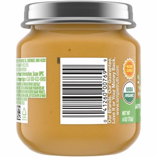 Simple Truth Organic® Apple Banana and Kiwi Baby Food Puree Jar Perspective: left