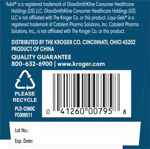 Kroger® Ibuprofen Mini Softgels 200mg Perspective: left