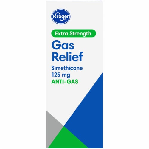 Kroger® Extra Strength Anti-Gas Cherry Creme Chewable Tablets 125mg Perspective: left