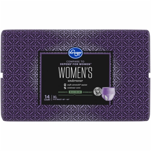 Kroger® Women's XL Maximum Absorbency Underwear Perspective: left