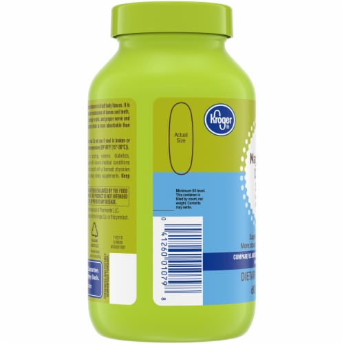 Kroger® Magnesium Citrate Softgels 250mg Perspective: left