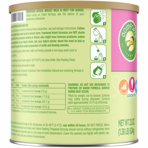 Comforts Stage 1 Soy Powder with Iron Baby Formula Perspective: left
