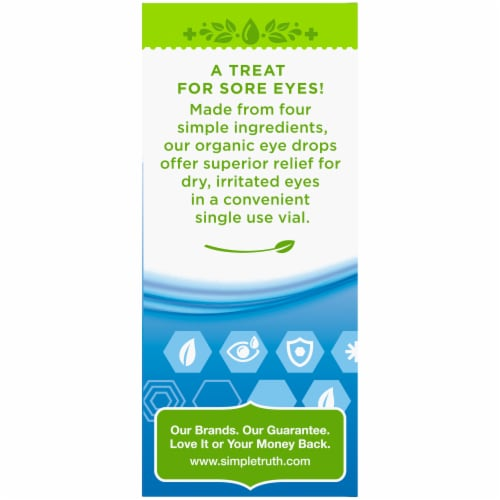 Simple Truth Organic™ Lubricant Eye Drops Single Use Vials Perspective: left