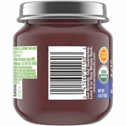 Simple Truth Organic® Banana and Blueberry Baby Food Puree Perspective: left