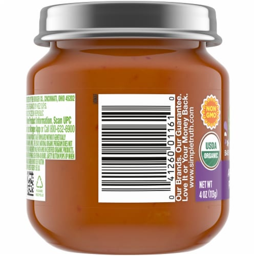 Simple Truth Organic® Apple and Prune Baby Food Puree Perspective: left