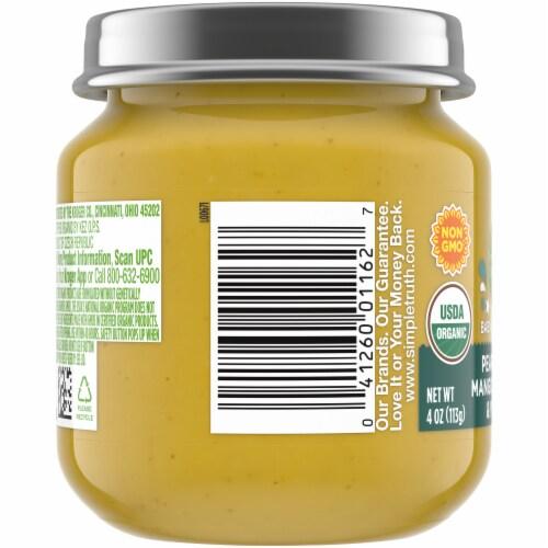 Simple Truth Organic® Mango Pear Apple Zucchini and Yogurt Baby Food Puree Perspective: left
