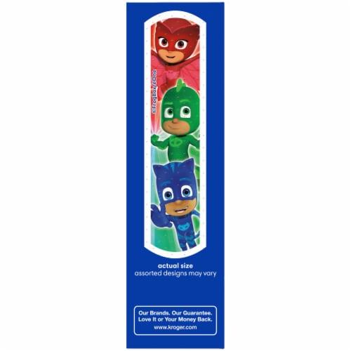 Kroger® PJ MASKS Antibacterial Kids Plastic Bandages Perspective: left