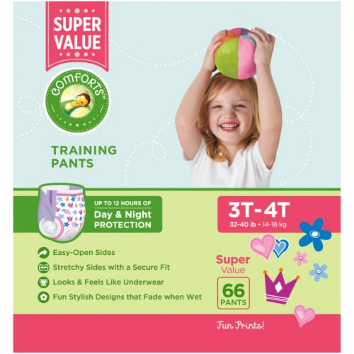 Comforts™ Day & Night 3T-4T Girls Training Pants Perspective: left