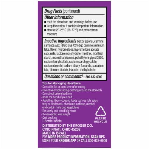 Kroger Wildberry Mint Omeprazole Acid Reducer Tablets Perspective: left