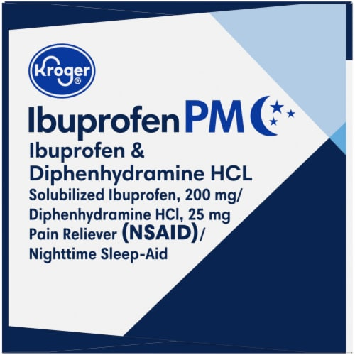 Kroger® Ibuprofen PM Liquid Softgel Capsules Perspective: left