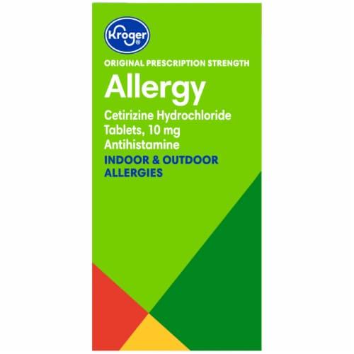 Kroger® 24 Hour Indoor & Outdoor Allergy Tablets 10mg Perspective: left