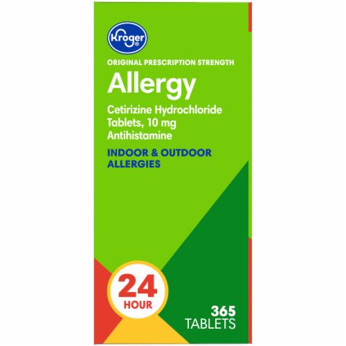 Kroger 24 Hour Indoor & Outdoor Allergy Relief Tablets Perspective: left
