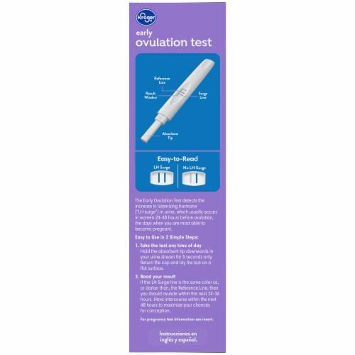 Kroger Ovulation Kit & Advanced Pregnancy Test Perspective: left