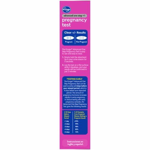 Kroger® Advanced Pregnancy Test Perspective: left