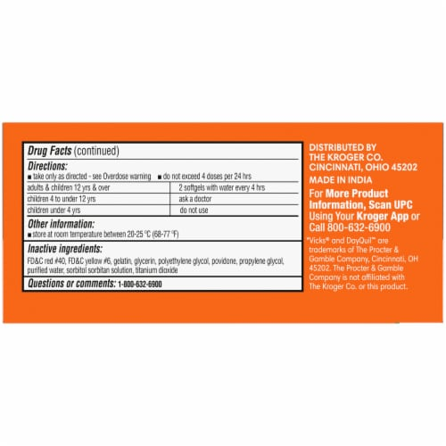 Kroger® Non-Drowsy DayTime Cold & Flu Softgels Perspective: left