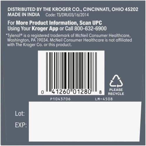 Kroger® Extra Strength Acetaminophen Rapid Release Gelcaps 500mg Perspective: left