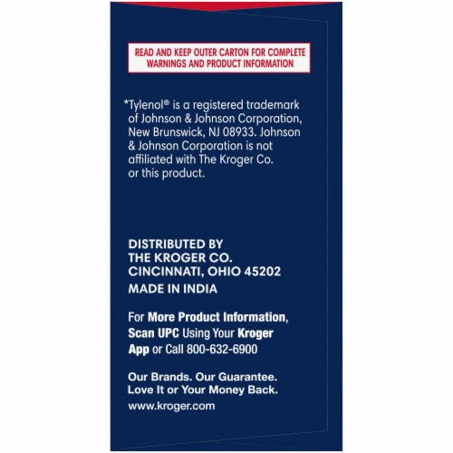 Kroger® Extra Strength Acetaminophen PM Caplets Twin Pack Perspective: left