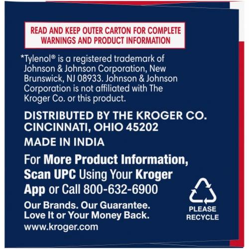 Kroger® Extra Strength Acetaminophen PM Caplets Perspective: left
