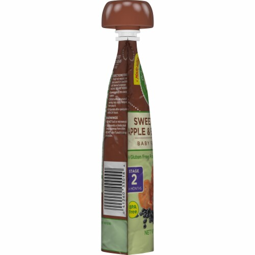 Comforts™ Sweet Potato Apple & Black Bean Stage 2 Baby Food Puree Pouch Perspective: left