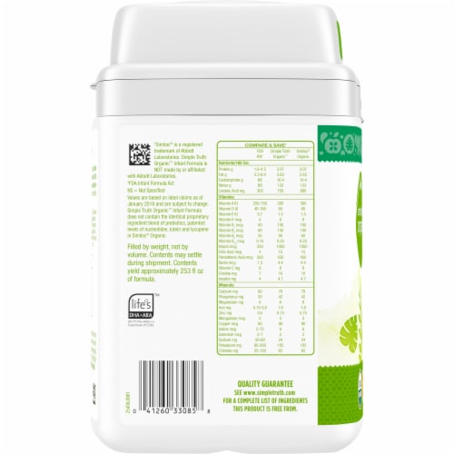 Simple Truth Organic™ Milk-Based Infant Formula Powder with Iron Perspective: left