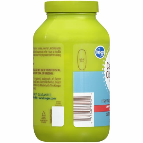 Kroger® Calcium Citrate + Vitamin D3 Dietary Supplement Tablets Perspective: left