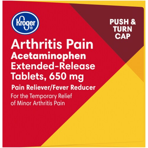 Kroger® Extended Release Arthritis Pain Relief Caplets 650mg Perspective: left