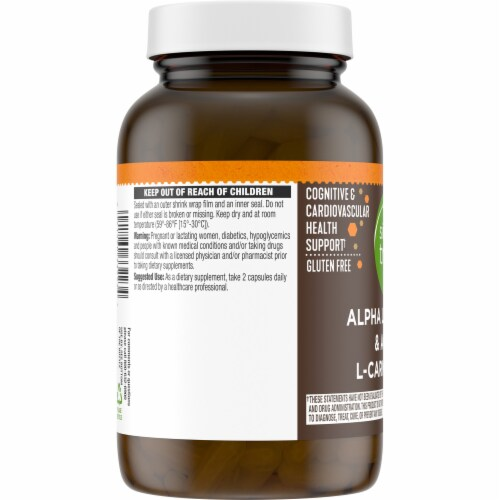 Simple Truth™ Alpha Lipoic Acid & Acetyl L-Carnitine HCI Capsules Perspective: left