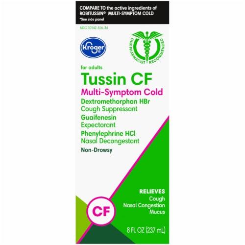 Kroger® Non-Drowsy Tussin CF Multi-Symptom Cold Liquid Medicine Perspective: left