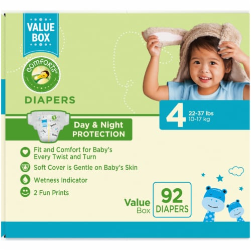 Comforts™ Day & Night Protection Size 4 Baby Diapers Perspective: left