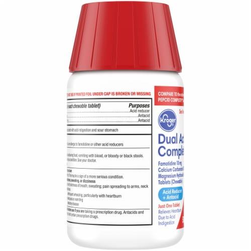 Kroger® Dual Action Complete Berry Flavor Acid Reducer + Antacid Chewable Tablets 50 Count Perspective: left