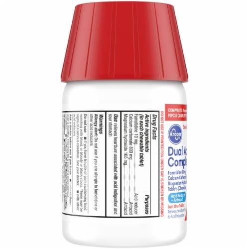 Kroger® Dual Action Complete Berry Acid Reducer & Antacid Chewable Tablets Perspective: left
