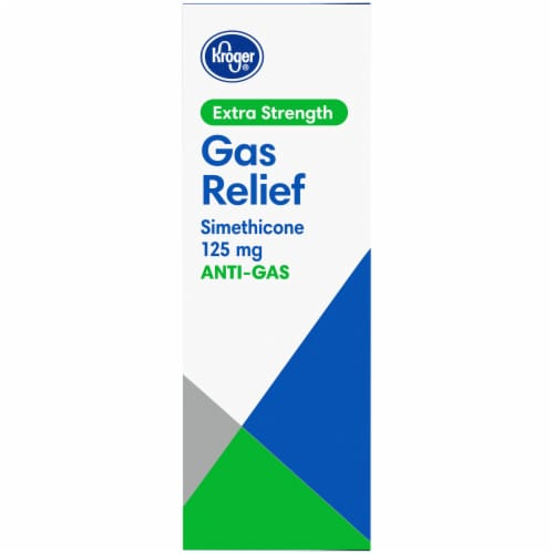 Kroger® Cherry Flavor Extra Strength Gas Relief Chewable Tablets Perspective: left