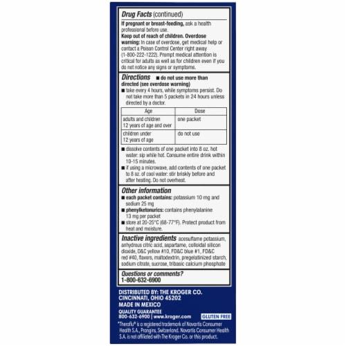 Kroger® NiteTime Honey Lemon Flavor Flu + Severe Cold & Cough Packets Perspective: left