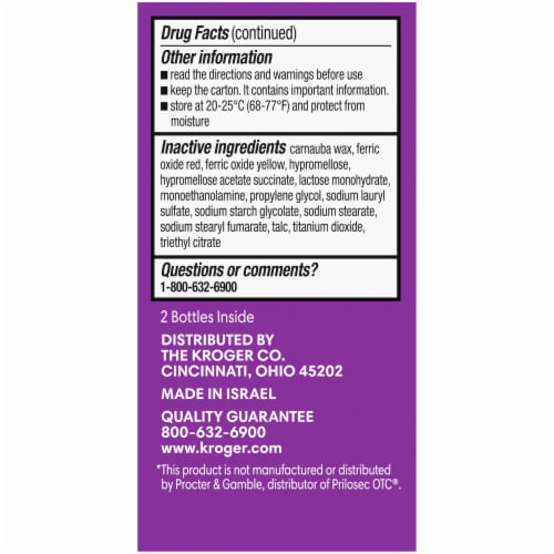 Kroger® Omeprazole Acid Reducer Delayed Release Tablets 20mg Perspective: left