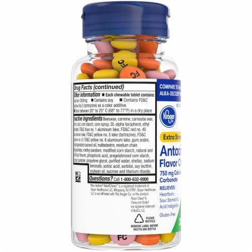 Kroger® Extra Strength Antacid Fruit Flavor Chews Perspective: left