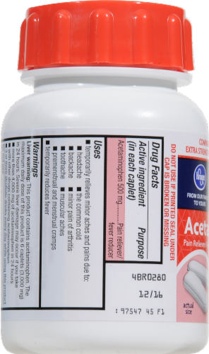 Kroger® Easy Open Extra Strength Acetaminophen Caplets 500mg Perspective: left