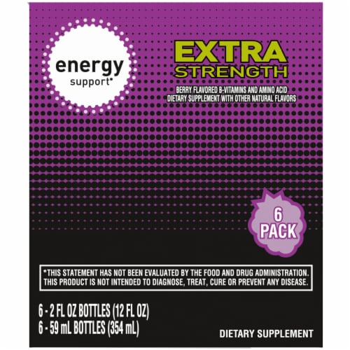 Kroger® Extra Strength Berry Flavored Energy Support Perspective: left