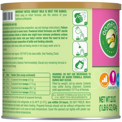 Comforts™ Soy-Based Infant Formula Powder With Iron Perspective: left
