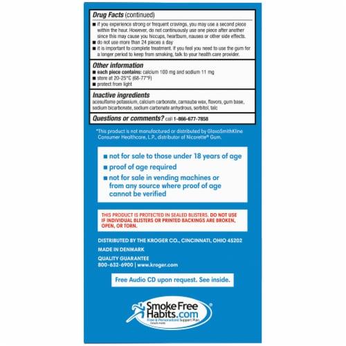 Kroger® Uncoated Original Nicotine Gum 2mg Perspective: left