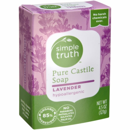 Simple Truth™ Lavender Pure Castile Bar Soap Perspective: left