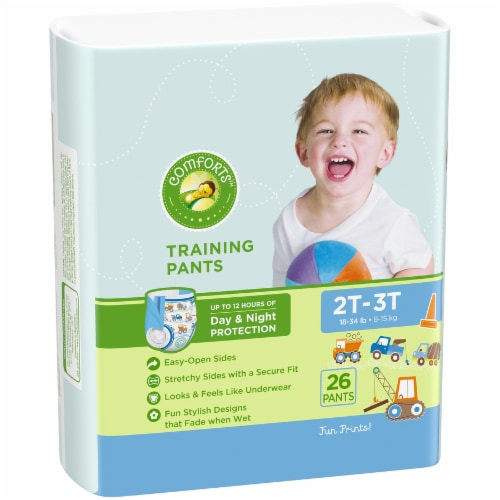 Comforts™ Day & Night 2T-3T Boys Training Pants Perspective: left