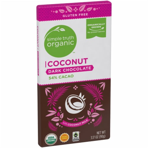 Simple Truth Organic™ Coconut 54% Cacao Dark Chocolate Bar Perspective: left