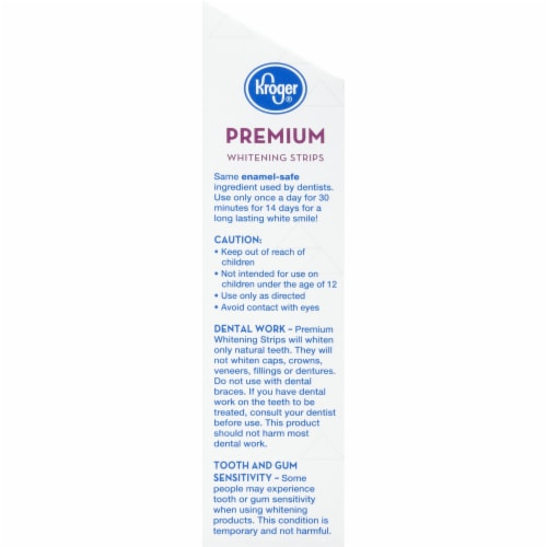 Kroger® Premium Whitening Strips Perspective: left