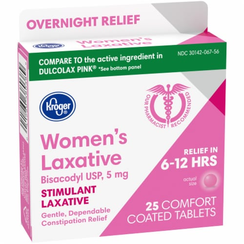 Kroger® Women's Stimulant Laxative Comfort Coated Tablets 5mg Perspective: left
