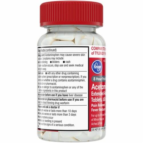 Kroger® Acetaminophen Extended-Release 650mg Caplets Perspective: left