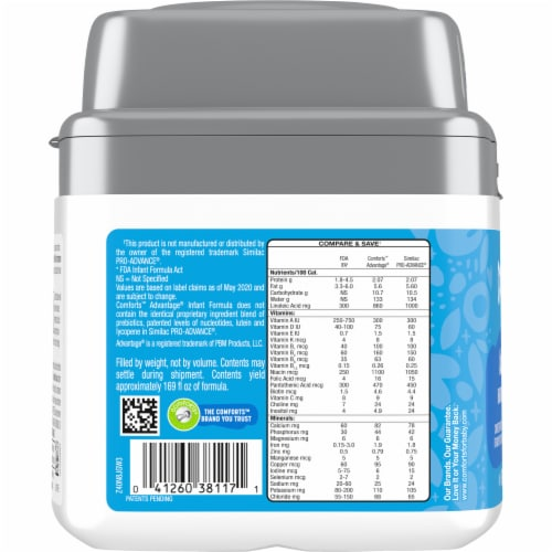 Comforts™ Advantage Milk-Based Infant Formula Powder With Iron Perspective: left